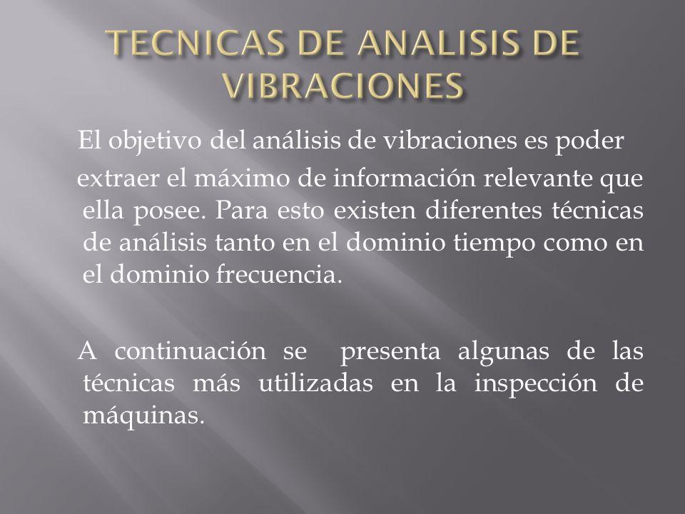 TECNICAS DE ANALISIS DE VIBRACIONES
