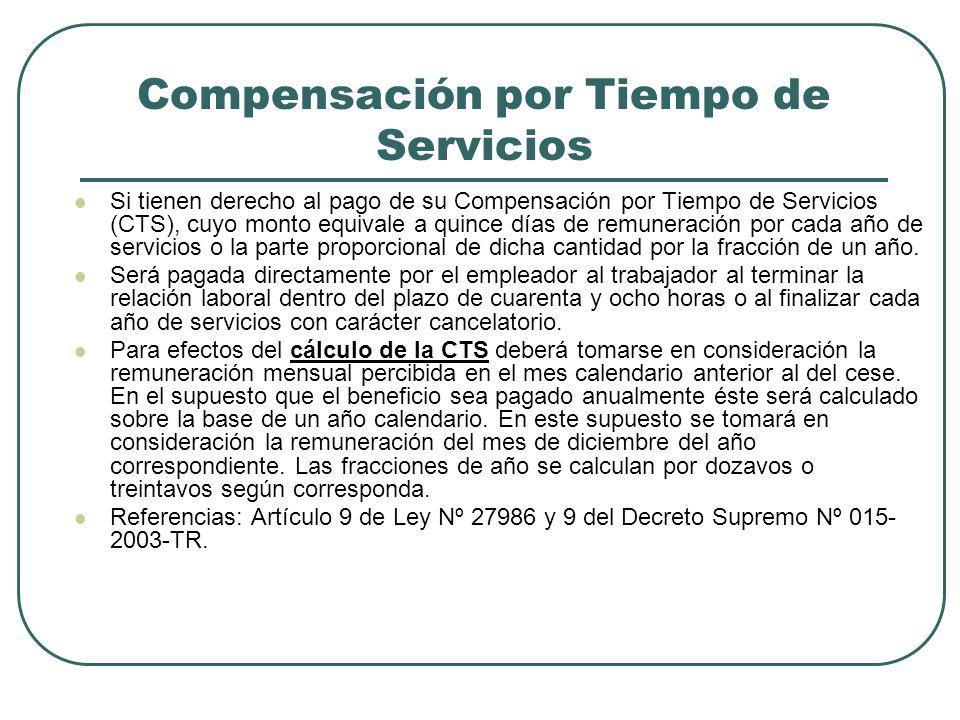Compensación por Tiempo de Servicios
