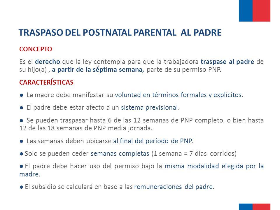 TRASPASO DEL POSTNATAL PARENTAL AL PADRE