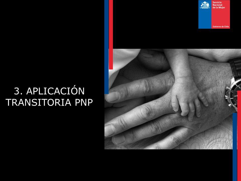 3. APLICACIÓN TRANSITORIA PNP