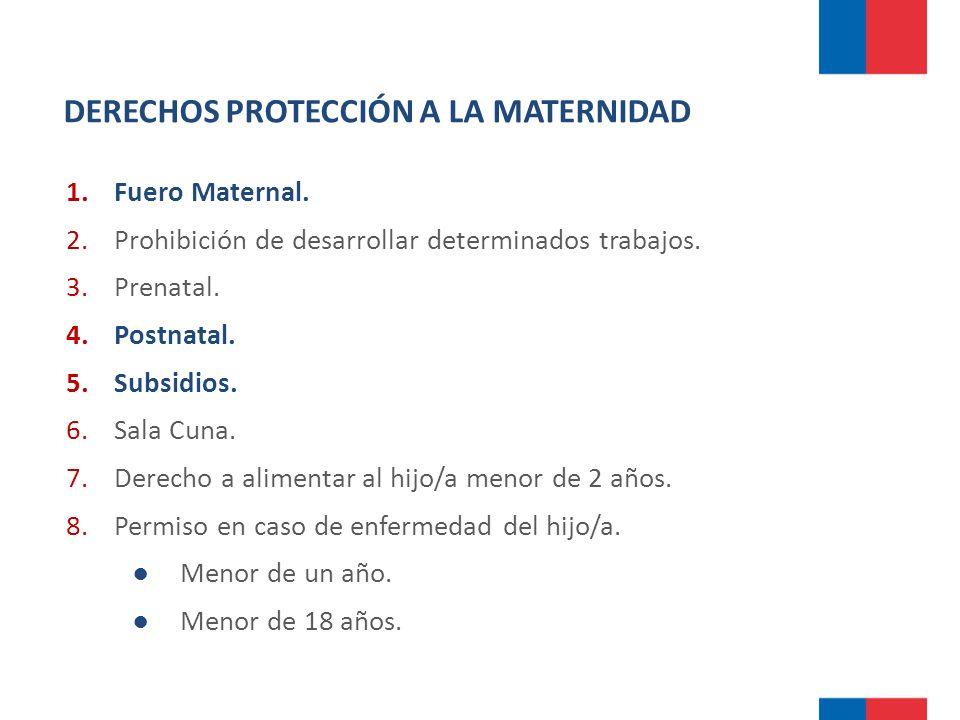 DERECHOS PROTECCIÓN A LA MATERNIDAD