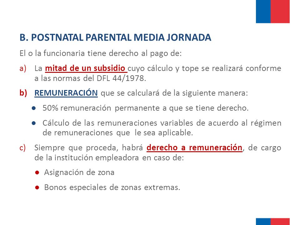 B. POSTNATAL PARENTAL MEDIA JORNADA