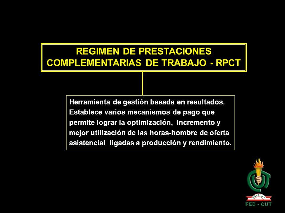 REGIMEN DE PRESTACIONES COMPLEMENTARIAS DE TRABAJO - RPCT