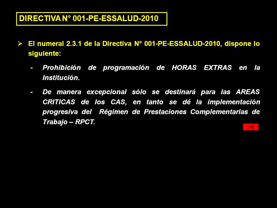 DIRECTIVA N° 001-PE-ESSALUD-2010