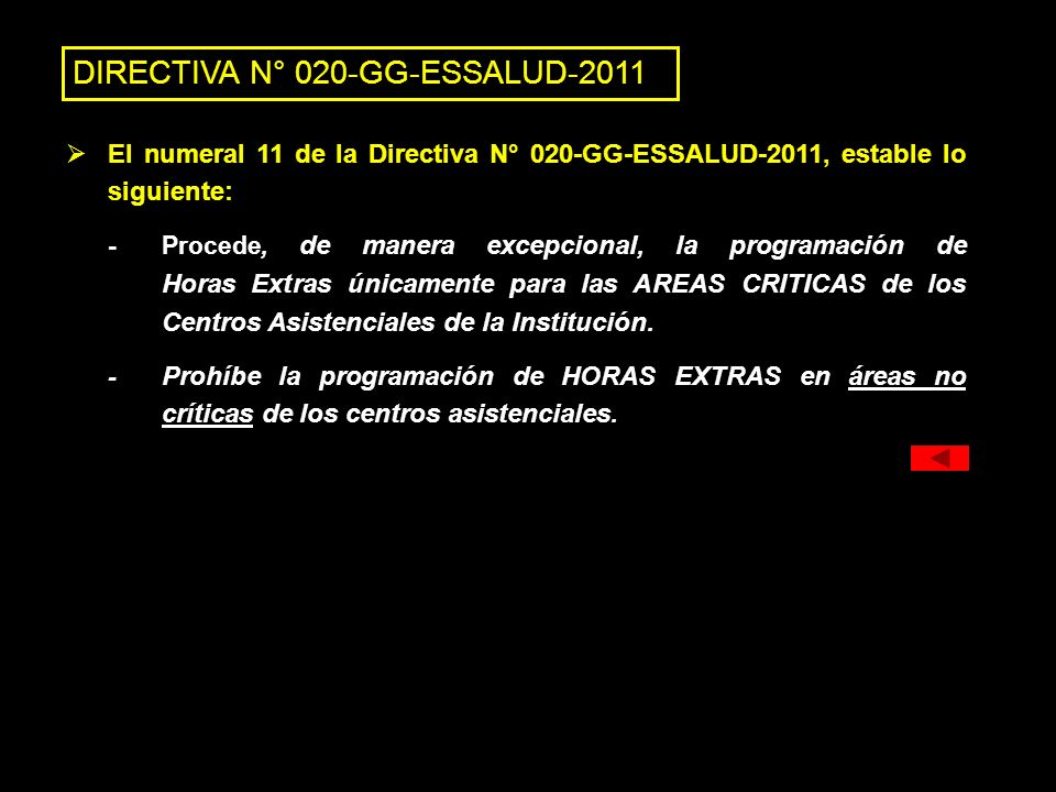 DIRECTIVA N° 020-GG-ESSALUD-2011