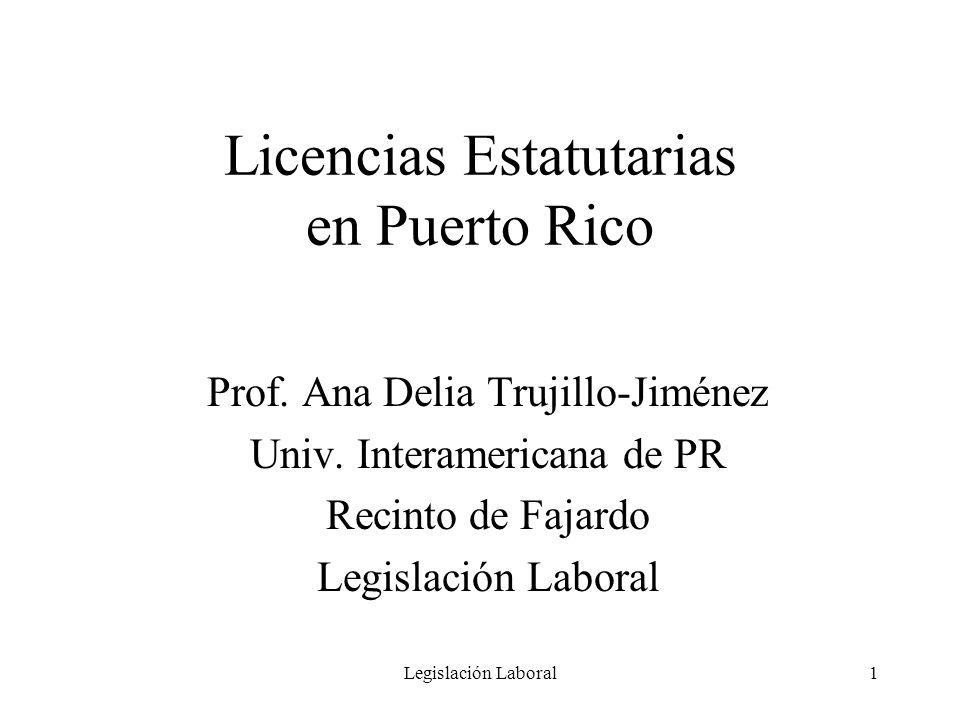 Licencias Estatutarias en Puerto Rico