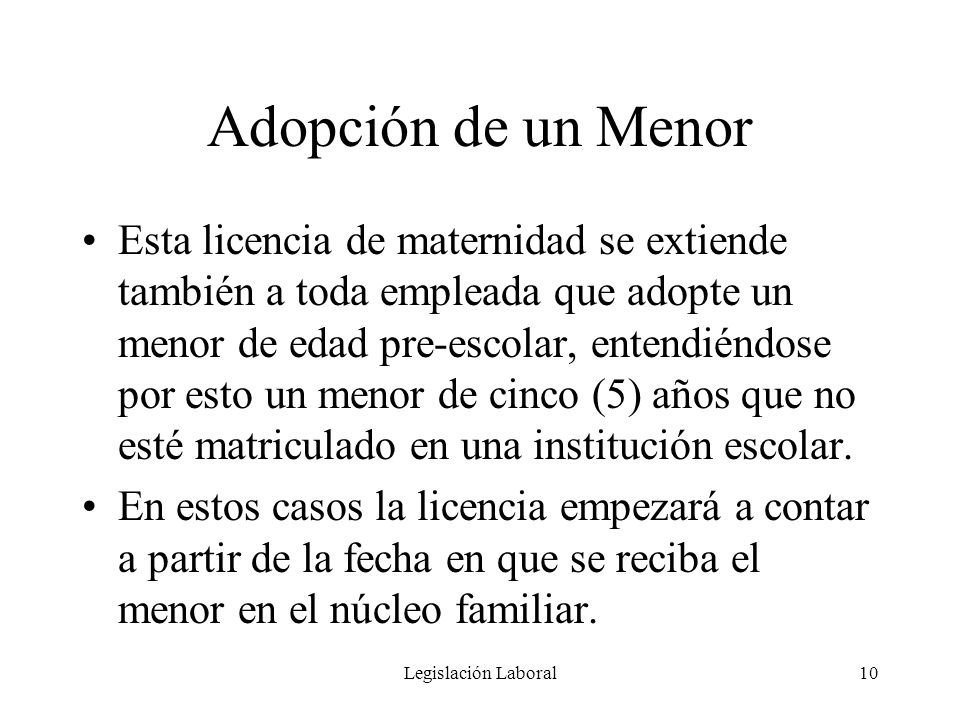 Adopción de un Menor