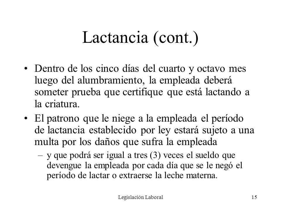 Lactancia (cont.)