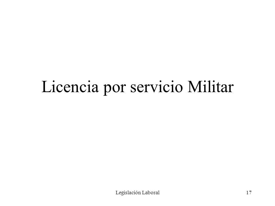 Licencia por servicio Militar
