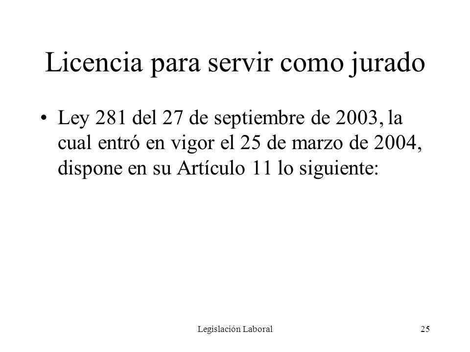 Licencia para servir como jurado