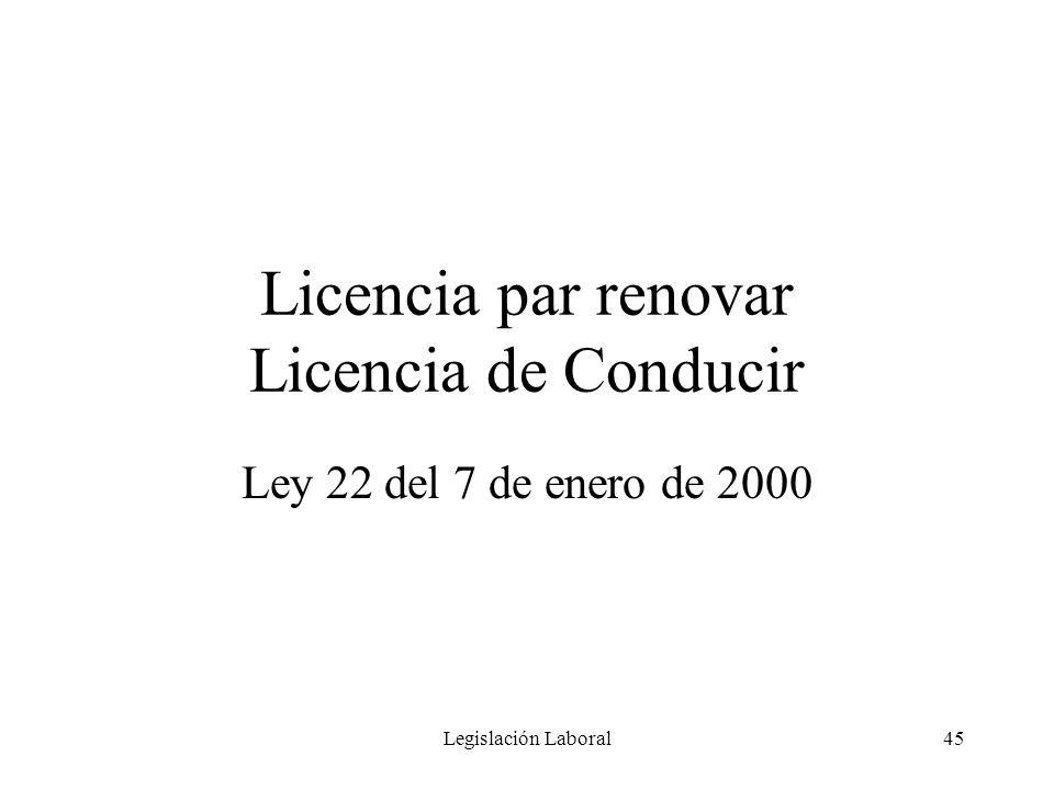Licencia par renovar Licencia de Conducir