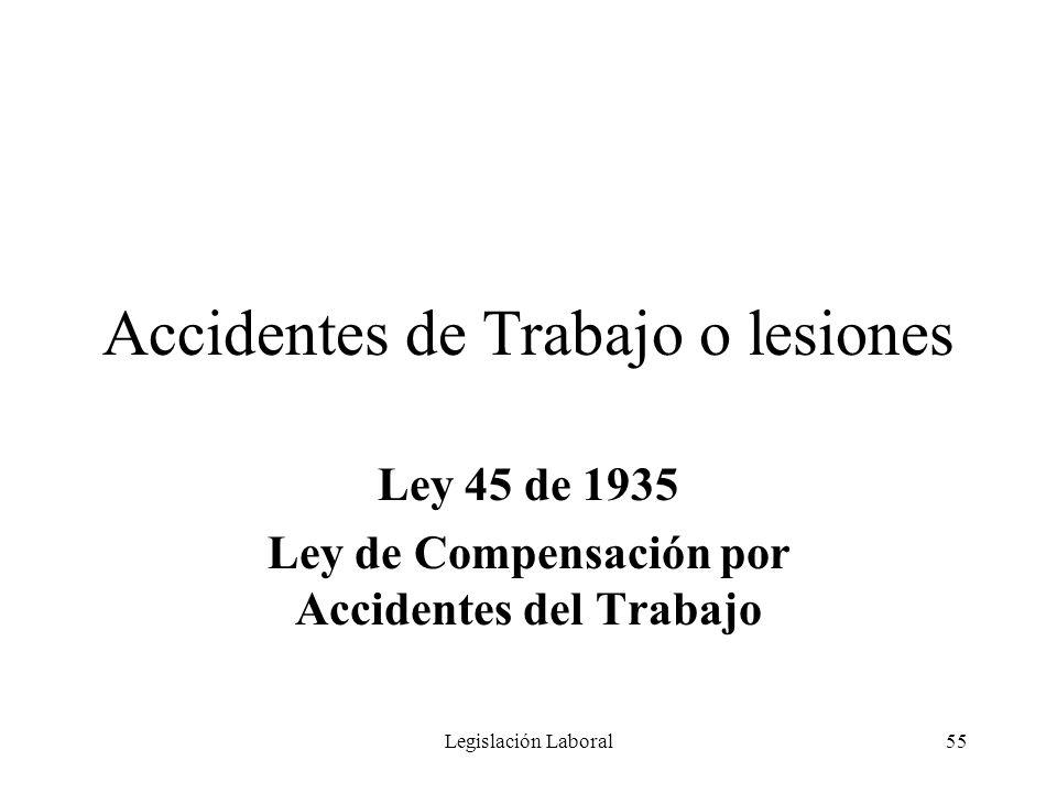 Accidentes de Trabajo o lesiones