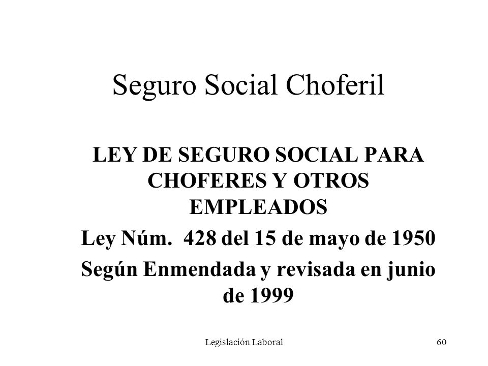 Seguro Social Choferil