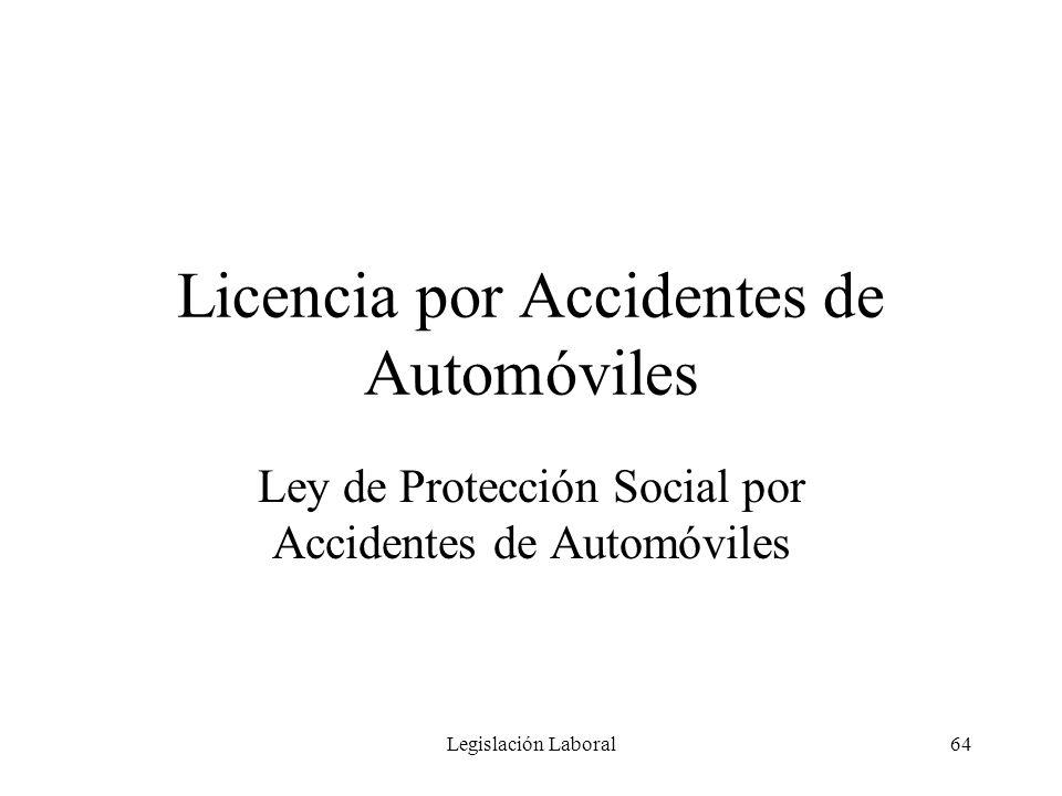 Licencia por Accidentes de Automóviles