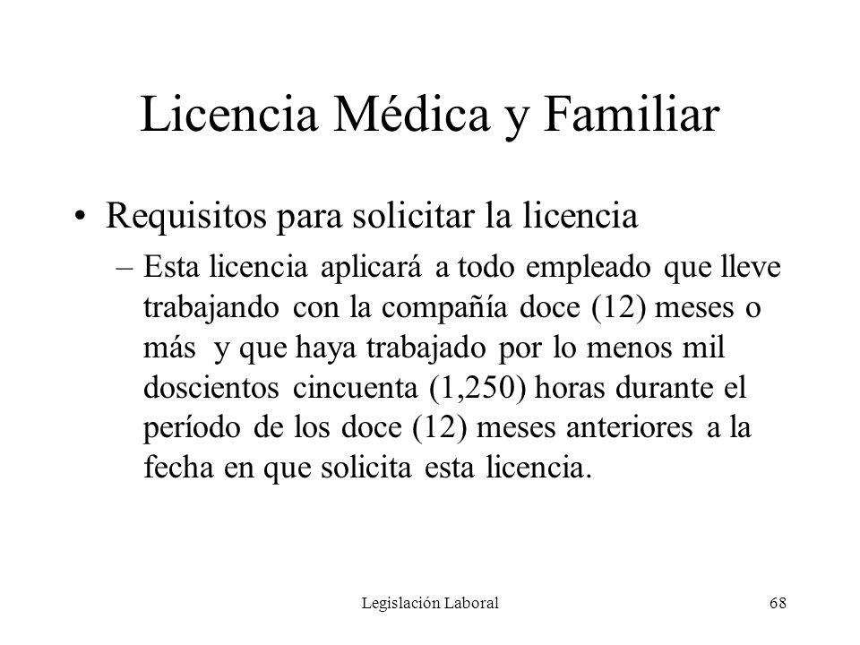 Licencia Médica y Familiar