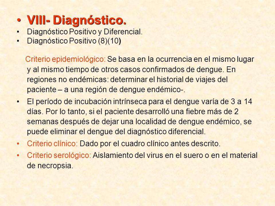 VIII- Diagnóstico. Diagnóstico Positivo y Diferencial.