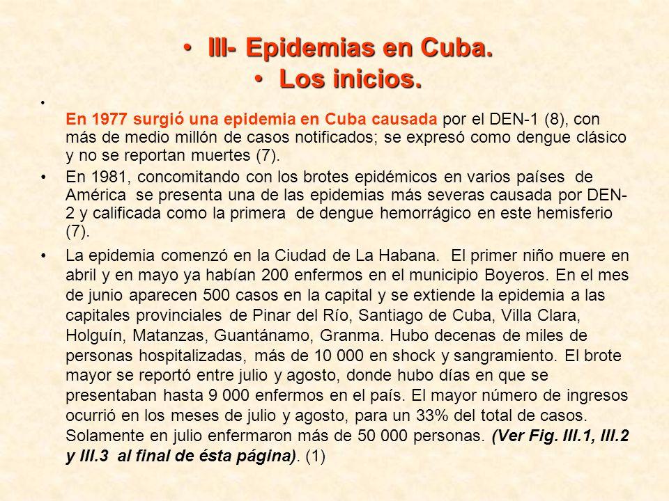 III- Epidemias en Cuba. Los inicios.