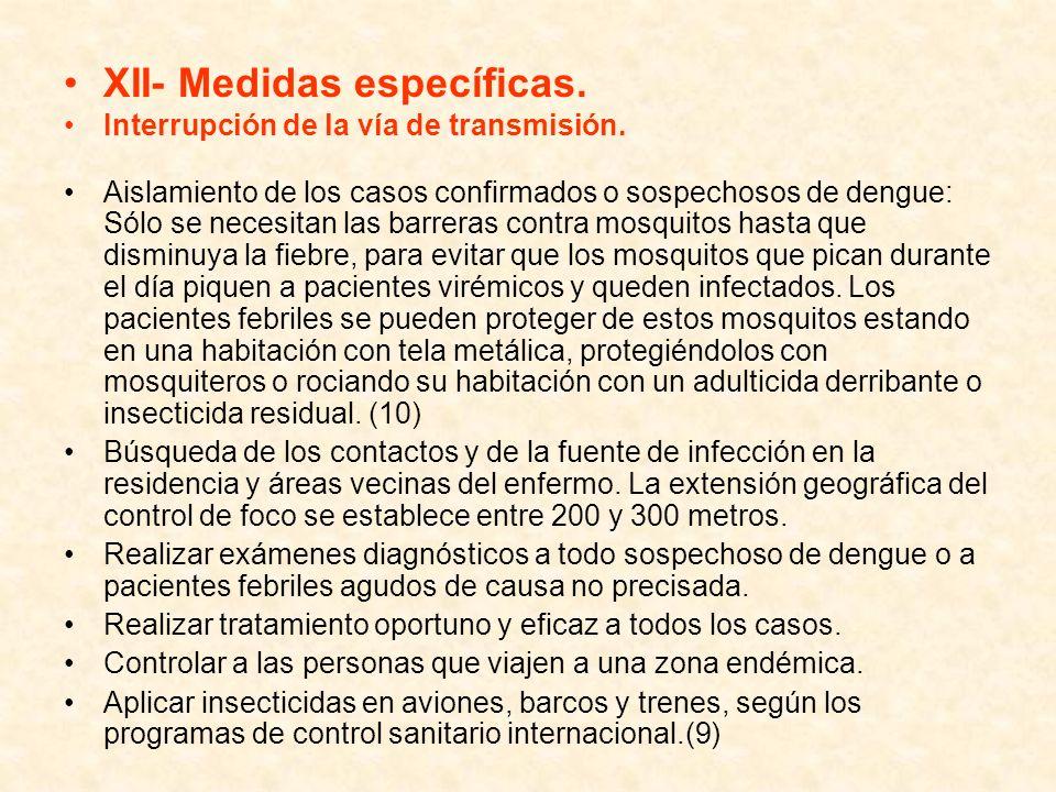 XII- Medidas específicas.