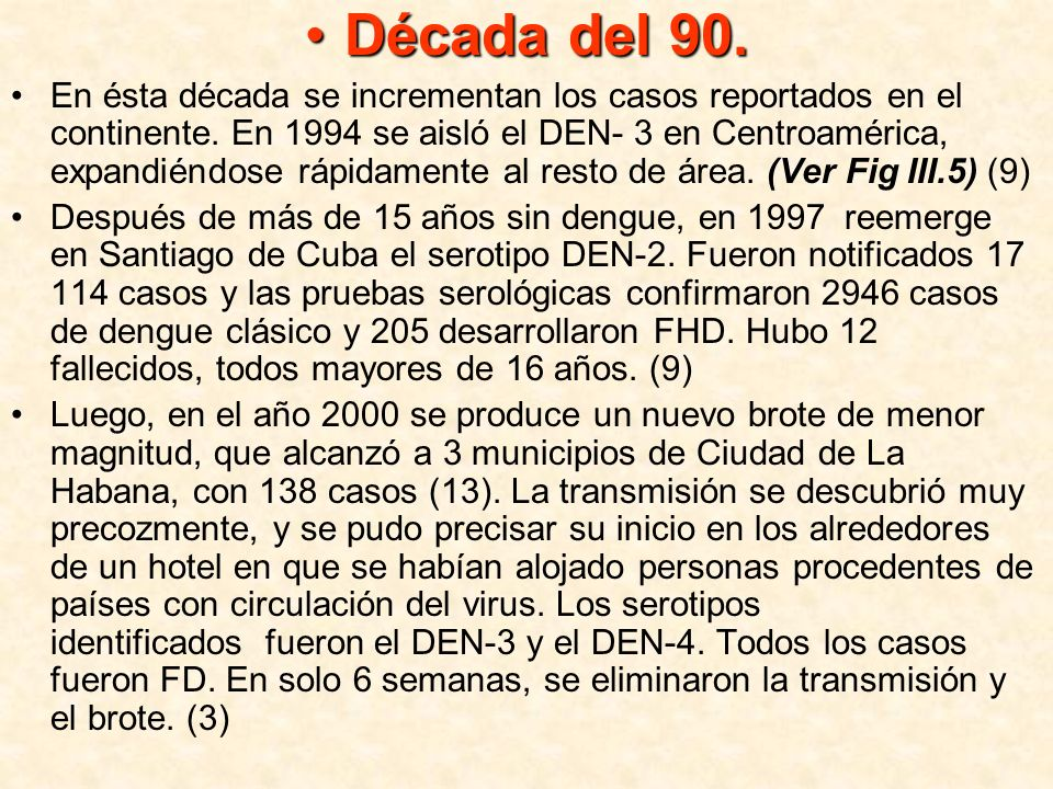 Década del 90.