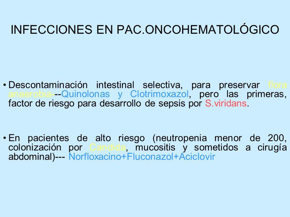 INFECCIONES EN PAC.ONCOHEMATOLÓGICO
