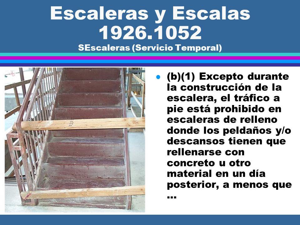 Escaleras y Escalas 1926.1052 SEscaleras (Servicio Temporal)