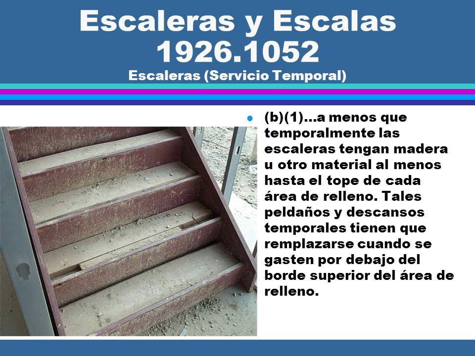 Escaleras y Escalas 1926.1052 Escaleras (Servicio Temporal)