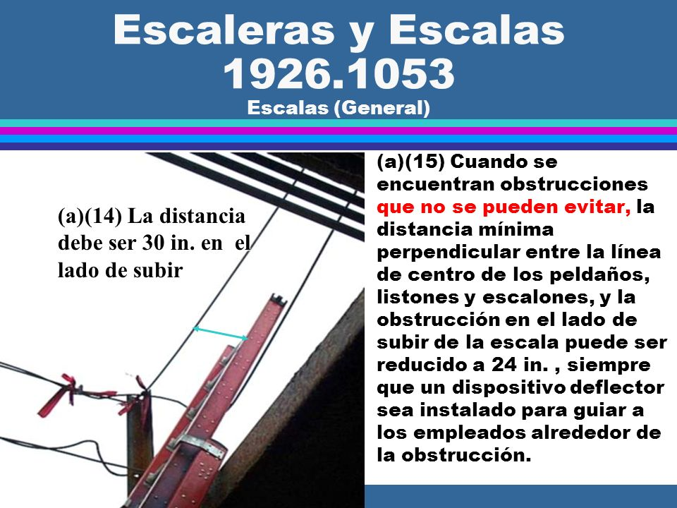 Escaleras y Escalas 1926.1053 Escalas (General)