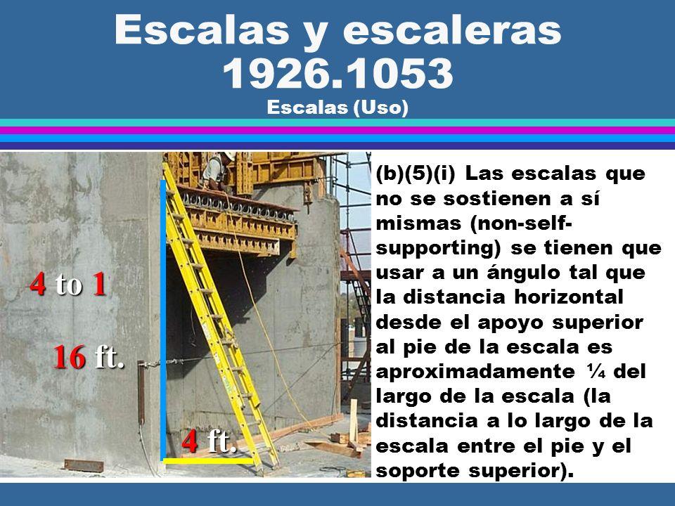 Escalas y escaleras 1926.1053 Escalas (Uso)