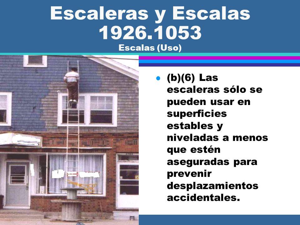 Escaleras y Escalas 1926.1053 Escalas (Uso)