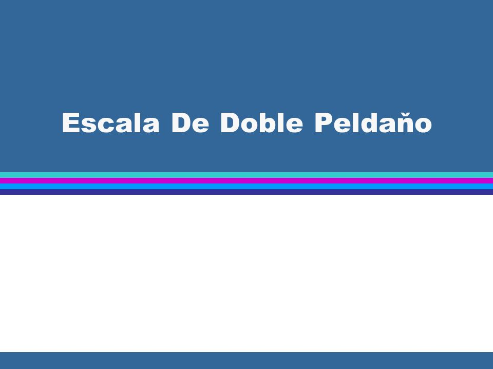 Escala De Doble Peldaňo