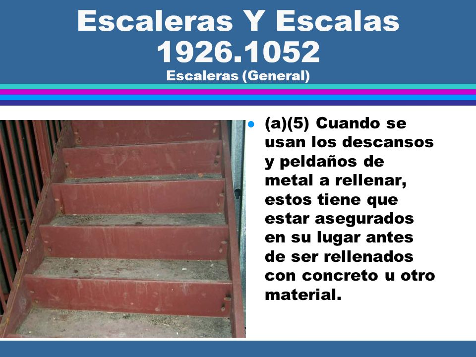 Escaleras Y Escalas 1926.1052 Escaleras (General)