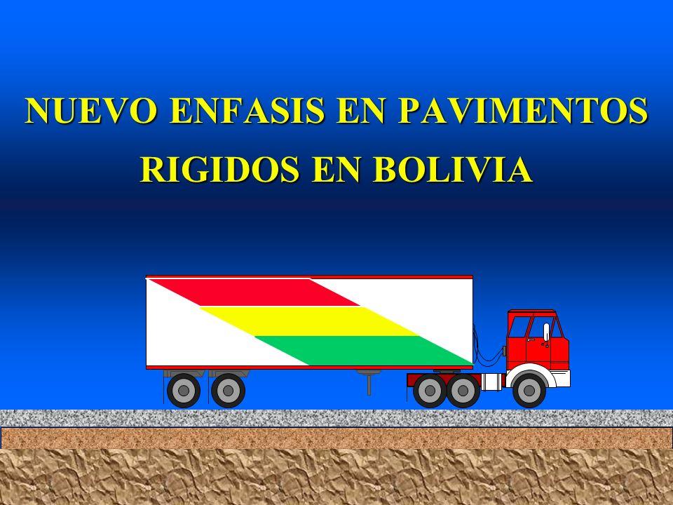 NUEVO ENFASIS EN PAVIMENTOS RIGIDOS EN BOLIVIA