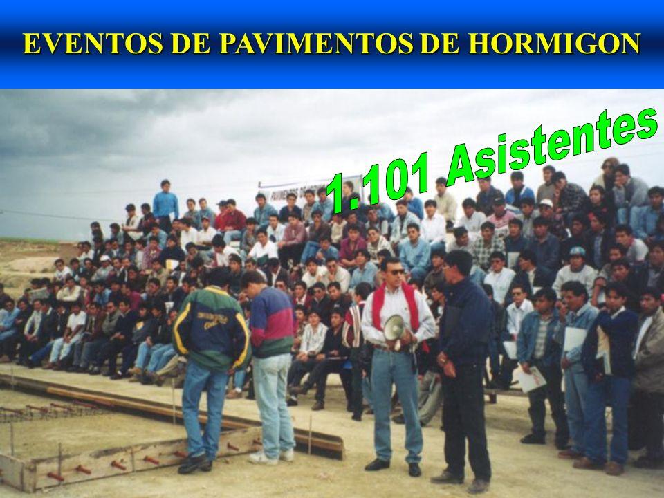 EVENTOS DE PAVIMENTOS DE HORMIGON