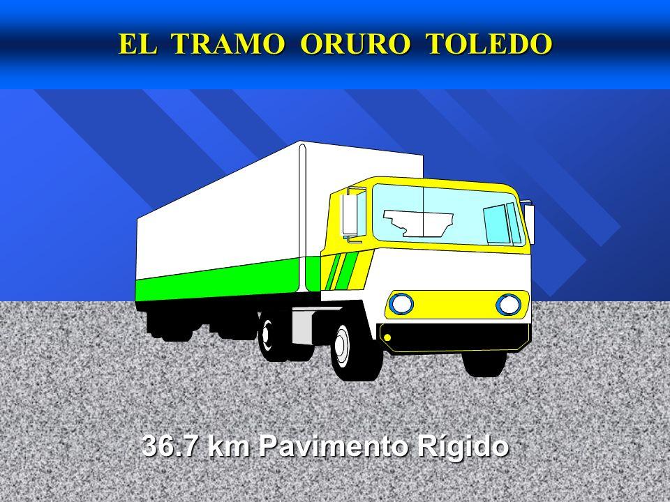 EL TRAMO ORURO TOLEDO 36.7 km Pavimento Rígido