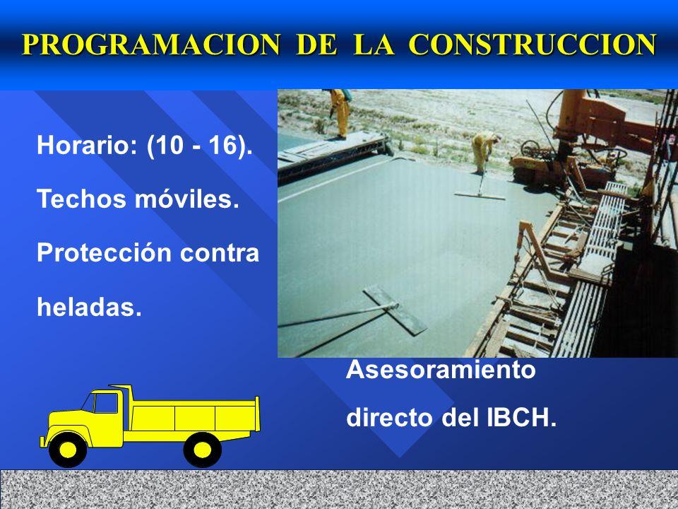 PROGRAMACION DE LA CONSTRUCCION