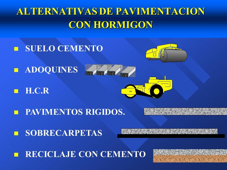 ALTERNATIVAS DE PAVIMENTACION CON HORMIGON