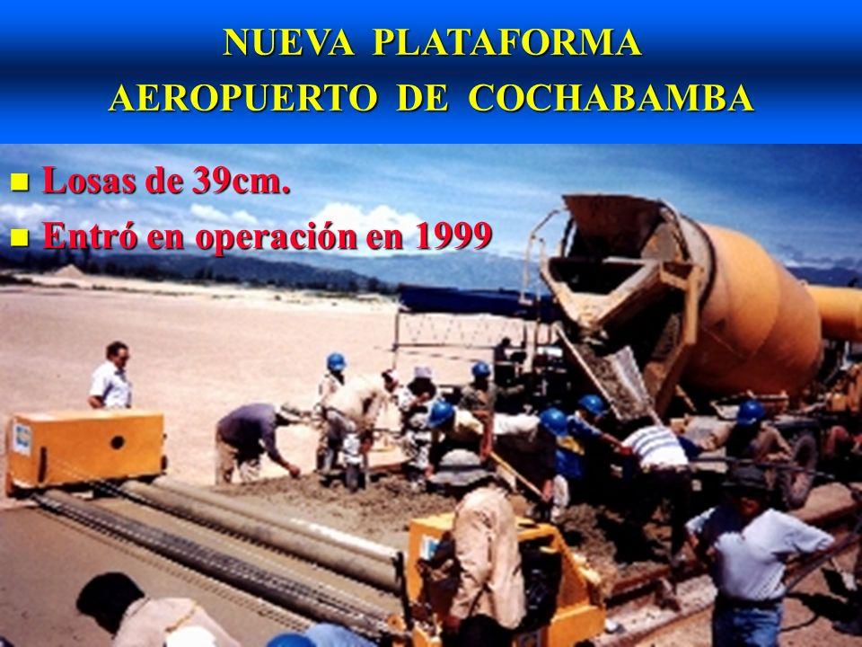 NUEVA PLATAFORMA AEROPUERTO DE COCHABAMBA