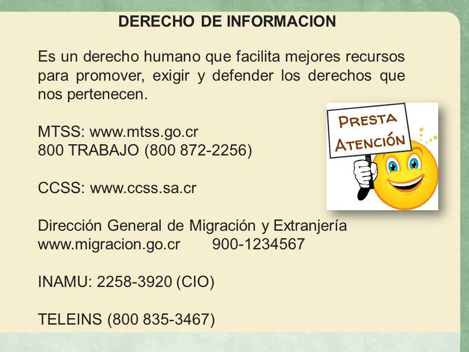 DERECHO DE INFORMACION