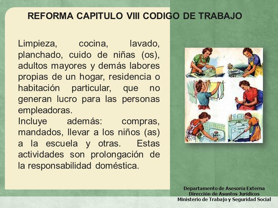 REFORMA CAPITULO VIII CODIGO DE TRABAJO