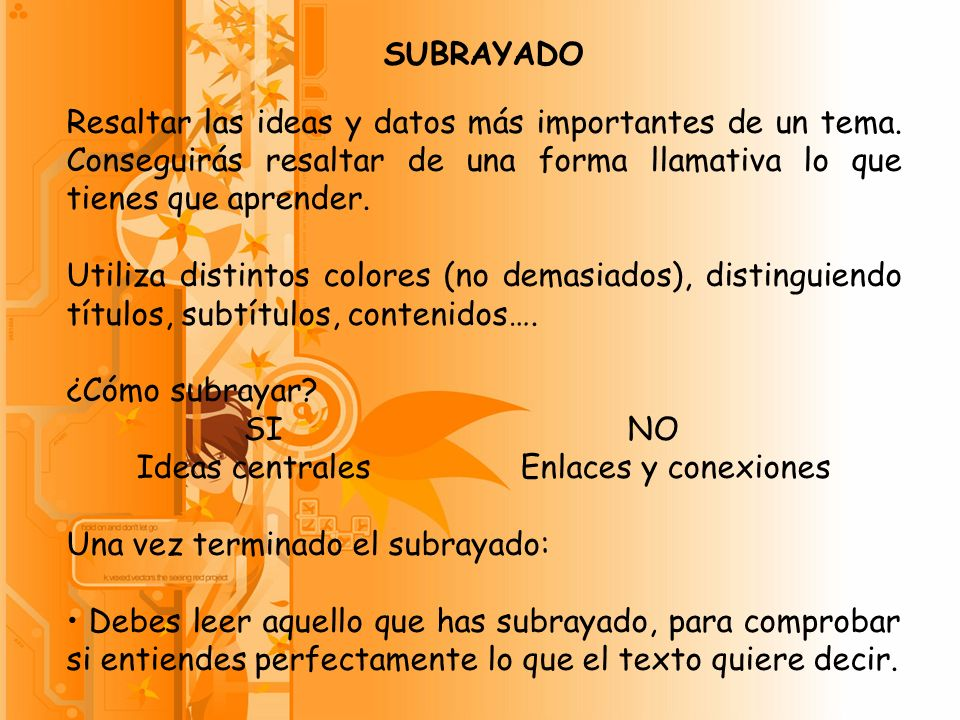 Ideas centrales Enlaces y conexiones