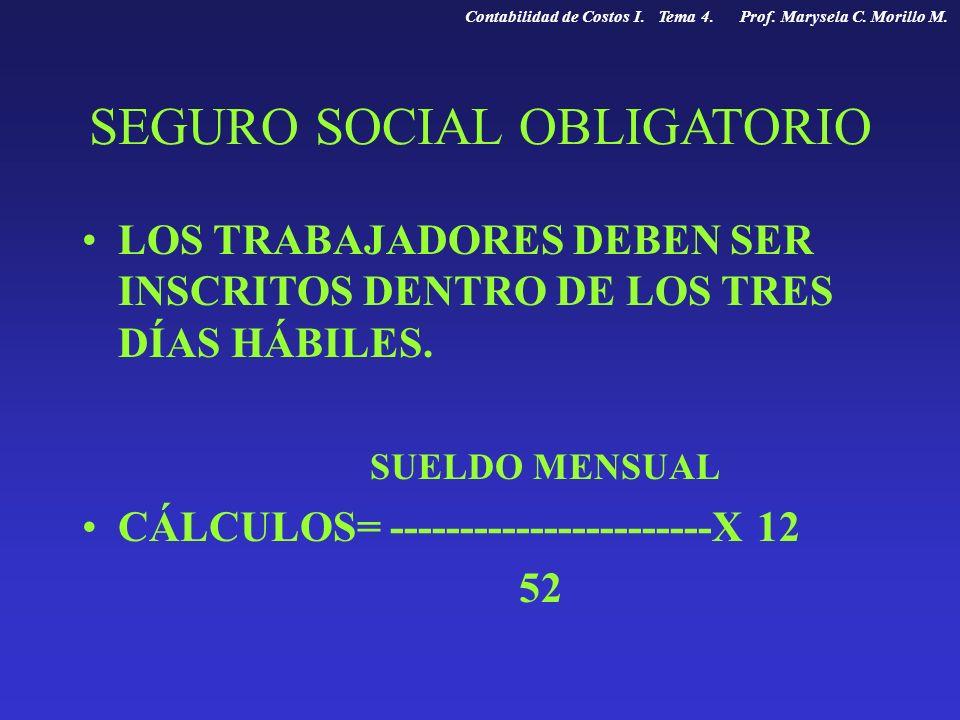 SEGURO SOCIAL OBLIGATORIO
