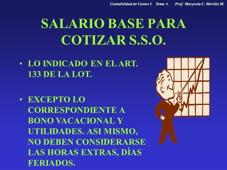 SALARIO BASE PARA COTIZAR S.S.O.