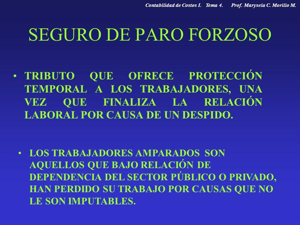 Contabilidad de Costos I. Tema 4. Prof. Marysela C. Morillo M.