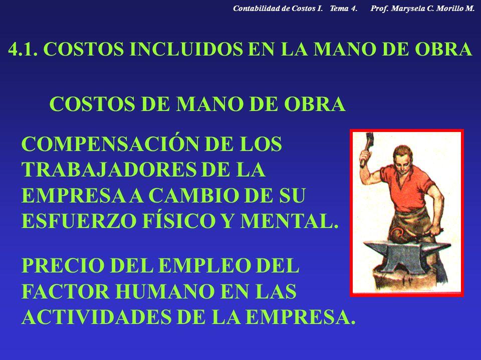 4.1. COSTOS INCLUIDOS EN LA MANO DE OBRA