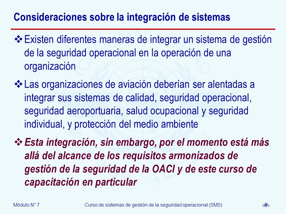 Consideraciones sobre la integración de sistemas