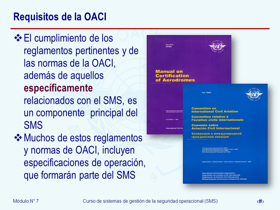 Requisitos de la OACI
