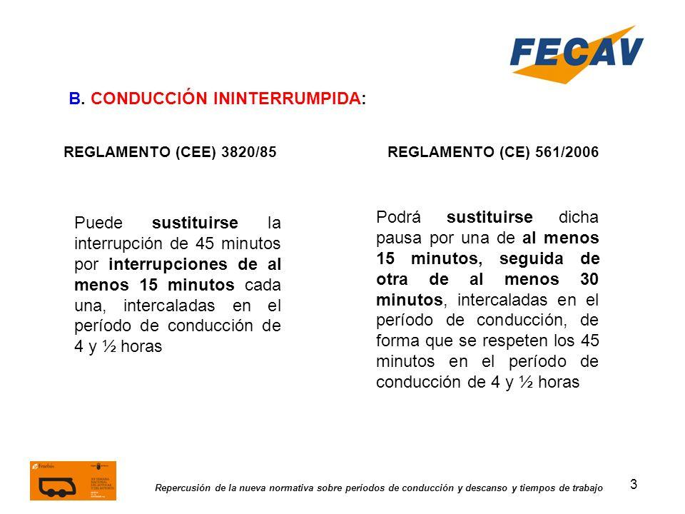 B. CONDUCCIÓN ININTERRUMPIDA: