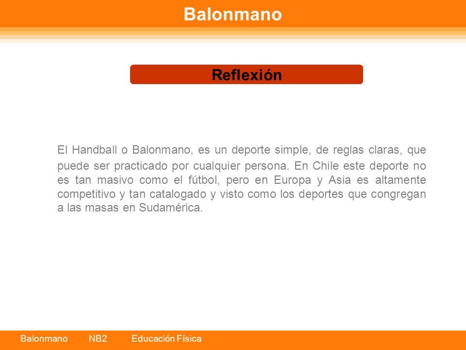 Balonmano Reflexión.