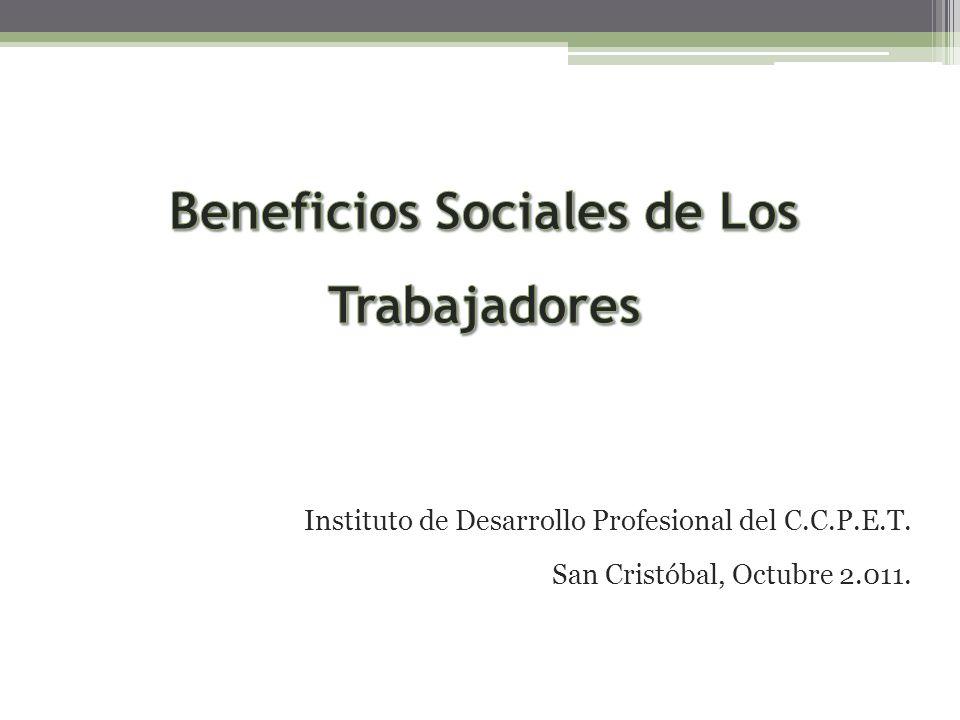 Beneficios Sociales de Los Trabajadores
