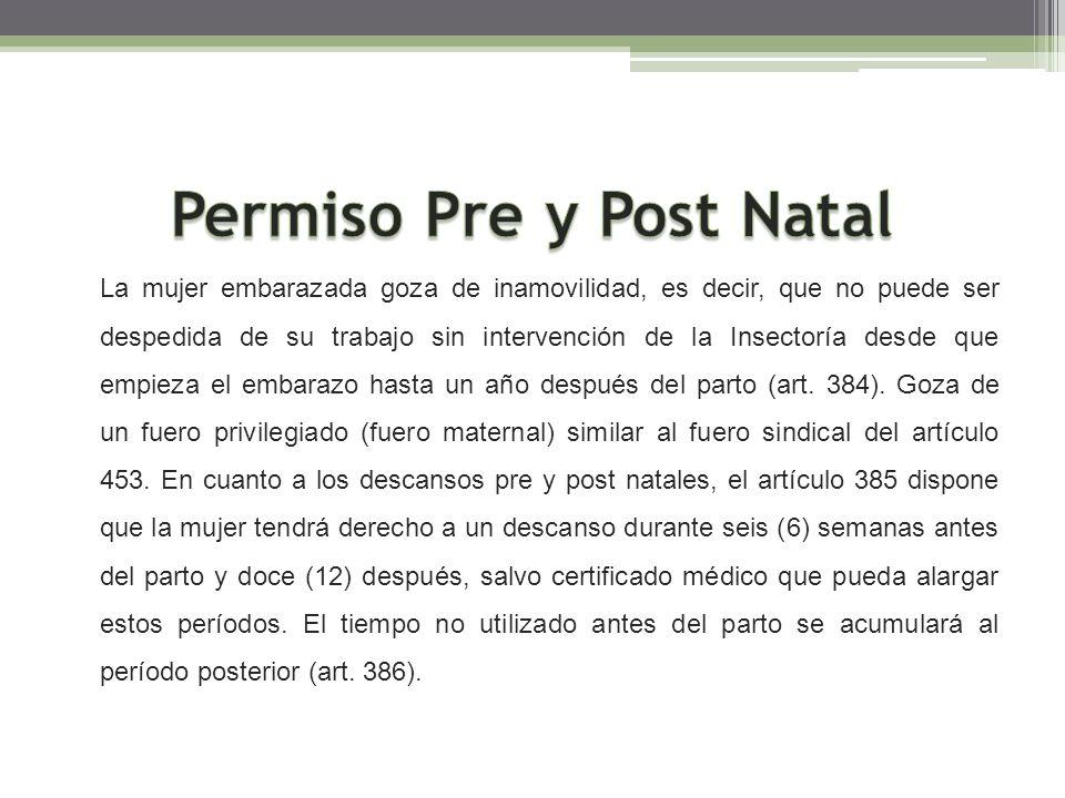 Permiso Pre y Post Natal